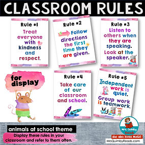 Classroom Rules- Posters