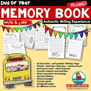 memory book for end of school year