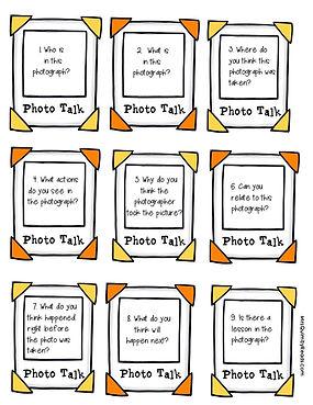 photo talk, speaking and listening activities