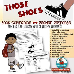 children's literatue, Those Shoes, Reader Response, Book Companion