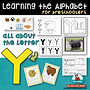letter Y - learning the alphabet