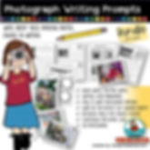 teach writing, photograph writing prompts, writing prompts, primary grades