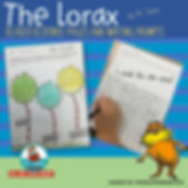 the lorax, dr. seuss, reader response pages, writing about my reading, teacher resources, literacy centers
