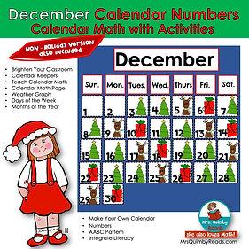 December Calendar Math
