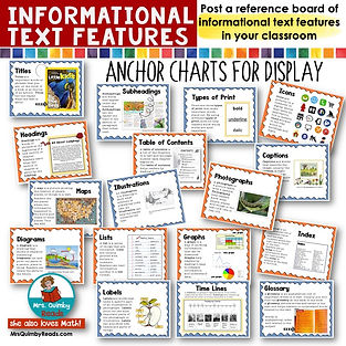 Informational Text Features-Anchor Chart