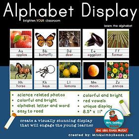 alphabet display, teaching resources, teach the alphabet