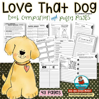 Love That Dog - Book companion