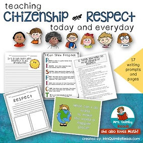 citizenship, respect, teaching resources, MrsQuimbyReads