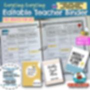 Teacher Binder-Weekly Lesson Planner