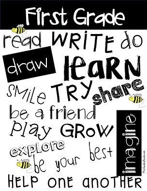 first grade, anchor chart, classroom decor, first grade behavior, classroom managemtn