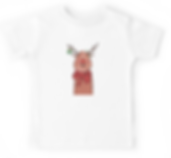 kids t shirt, christmas, reindeer