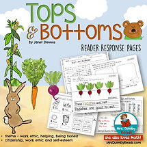 tops and bottoms, Janet Stevens, Children's Literature, book companion, write about reading, teacher resources