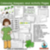 teaching resources for calendar math, March, math centers, primary grades, teaching resources