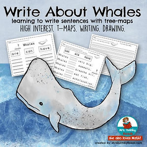 write about whales, teach reading and science together