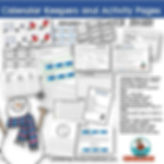 teaching resources, calendar math, January math center, MrsQuimbyReads, primary grades