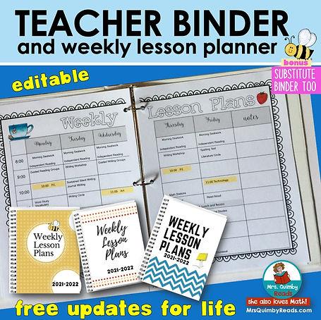 Teacher Binder- Lesson Planner