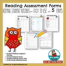 reading assessment, forms, MrsQuimbyReads, literacy instruction