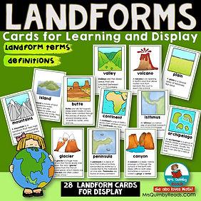 landforms cards