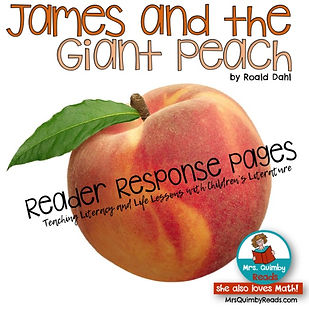 James and the Giant Peach, Children's Literature, teaching resources, literacy instruction, literacy centers, homework, third grade, bookmarks, vocabulary