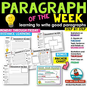 Paragraph of the week-learnng to write