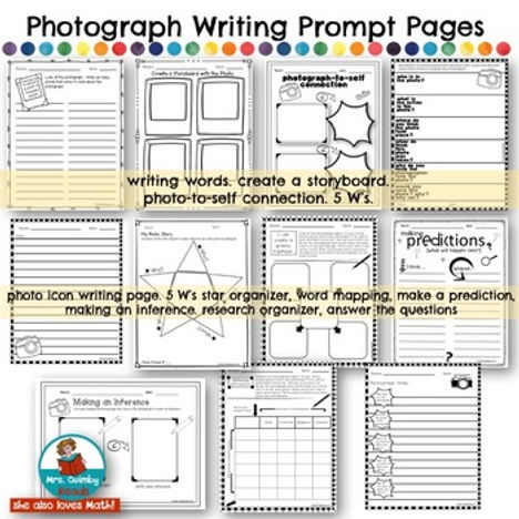 photograph writing prompts for elementary school, teaching resources