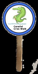 Careful Croc Walk