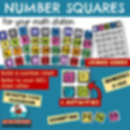 Number Squares for Classroom