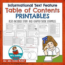 teaching resources, lesson plans, table of contents