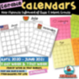 editable calendars -2020-2021