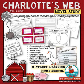 Charlotte's Web   Novel Study   Book Com
