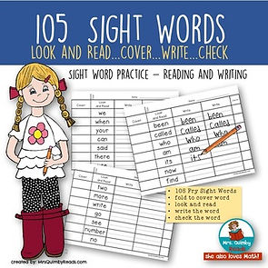 sight words, first grade, teaching sight words, learning to read, teaching resources for sight words