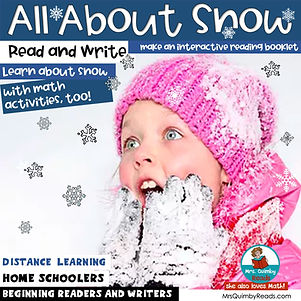 all about snow - read and write