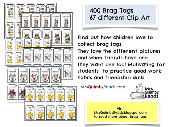 teaching resources, brag tags, citizenship in elementary school, classroom management