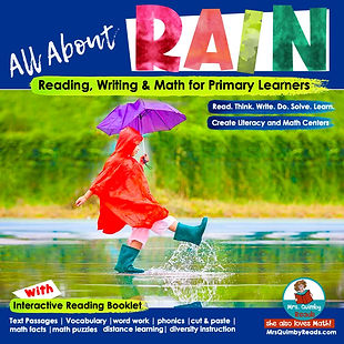 all about rain- elementary grades