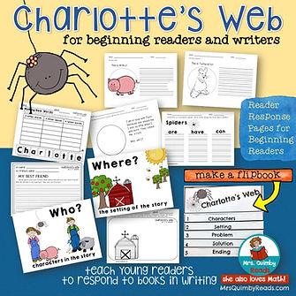 Charlotte's Web, book companion, primary readers
