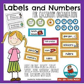 classroom organization, labels, folders, teacher notebooks, teaching resources, mrsquimbyreads