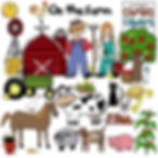 ChrisQ clip art, teaching resources, farm theme, elementary school, teacher lesson plans