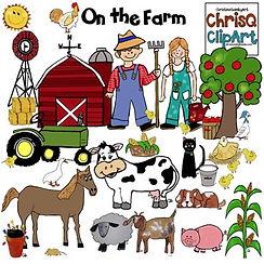 ChrisQ clip art, teaching resources, farm theme, elementary school, teacher lesson plans