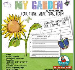 my garden, children's literature, teaching reading, kevin henkes, learning to read, writing for beginners