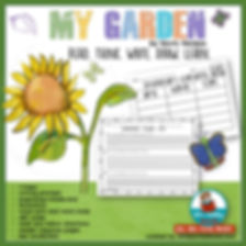 my garden, kevin henkes, reading response graphic organizers, writing prompts, children's literature, first grade, teaching resources