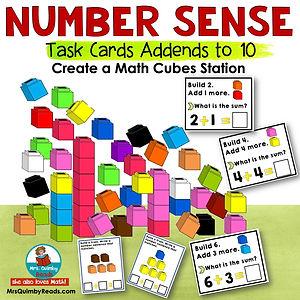 math cubes - task cards