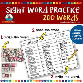 teaching resources, sight words, first grade literacy, MrsQuimbyReads