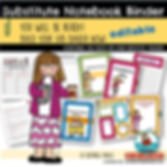 substitute binder, teachers notebook, teaching resources, back to school