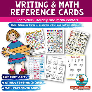 reference charts-reading and math