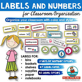 Labels and Numbers