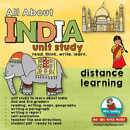India -unit study -distance learning