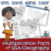 teaching USA geography, name the states, multiplicaton practice
