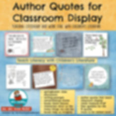children's literature, teaching citizenship, classroom anchor charts, quotes by famous authors