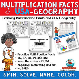 learning multiplication and USA states