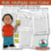 roll, multiply and color, multiplication practice, MrsQuimbyReads, teaching resouces